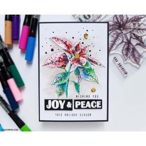 Festive Poinsettia, Altenew Clear Stamps - 655646173122
