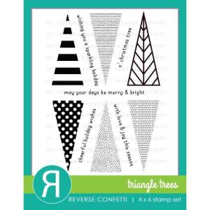 Triangle Trees, Reverse Confetti Clear Stamps -