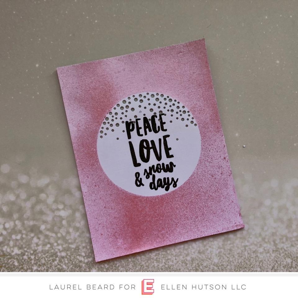 Essentials by Ellen Alpine Snowfall card by Laurel Beard