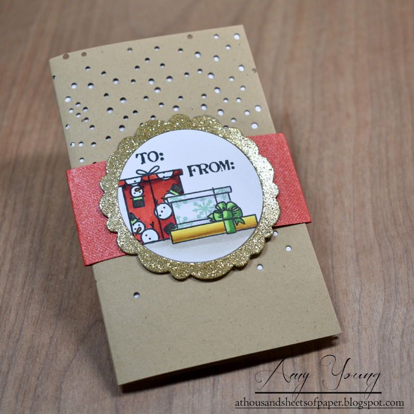 Front view of DIY Gift Card Holder