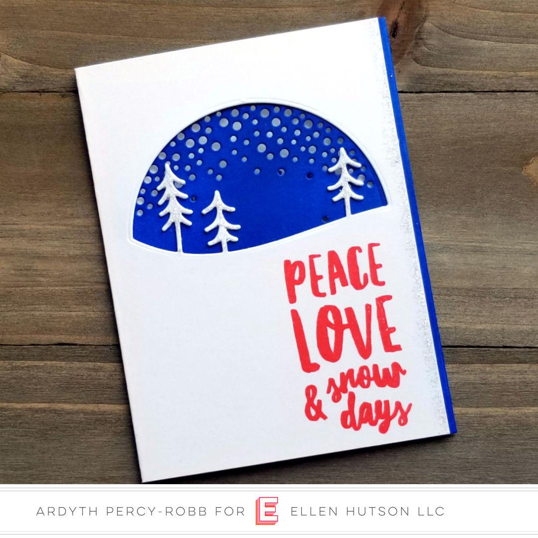 Essentials by Ellen Alpine Snowfall card by Ardyth Percy-Robb