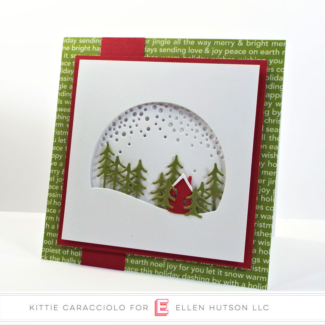 Essentials by Ellen Alpine Snowfall card by Kittie Caracciolo