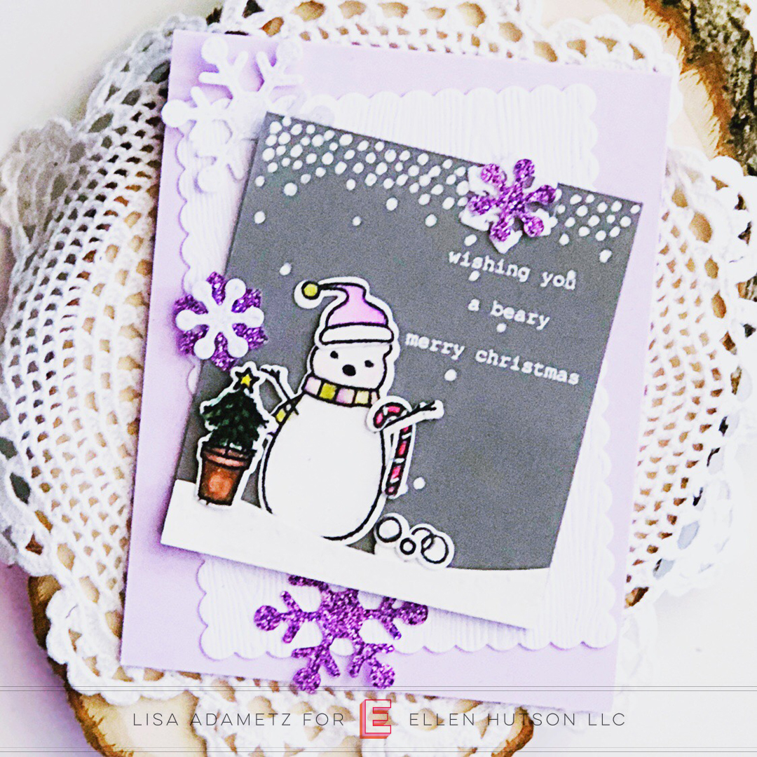 Essentials by Ellen Snowfall card by Lisa Adametz