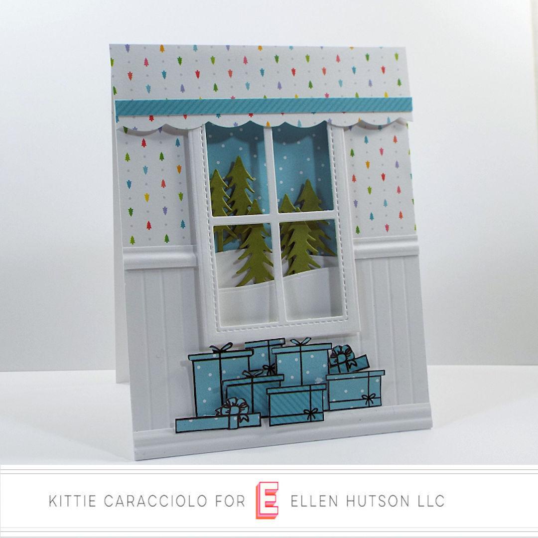 Essentials by Ellen Winter Window Card by Kittie Caracciolo