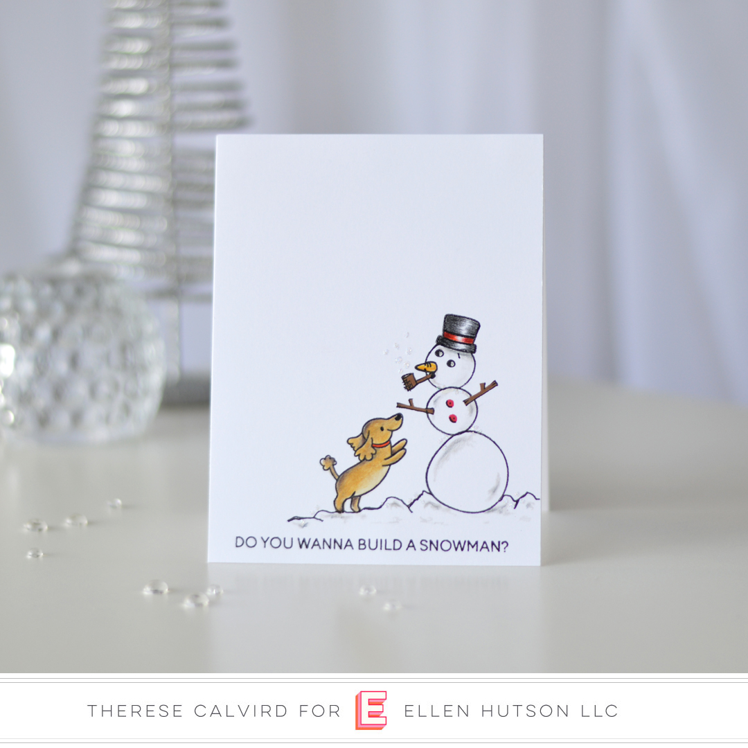 Holiday Trends 2018 Christmas Critters card by Therese Calvird featuring Heffy Doodle Wanna Build A Snowman