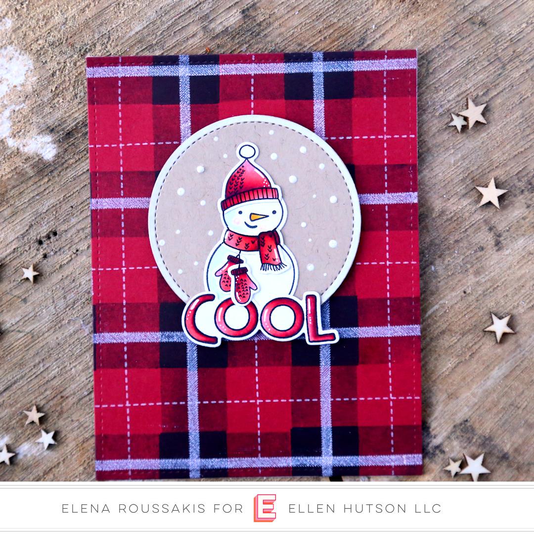 Essentials by Ellen Snow Buds & Plaid Maker card by Elena Roussakis