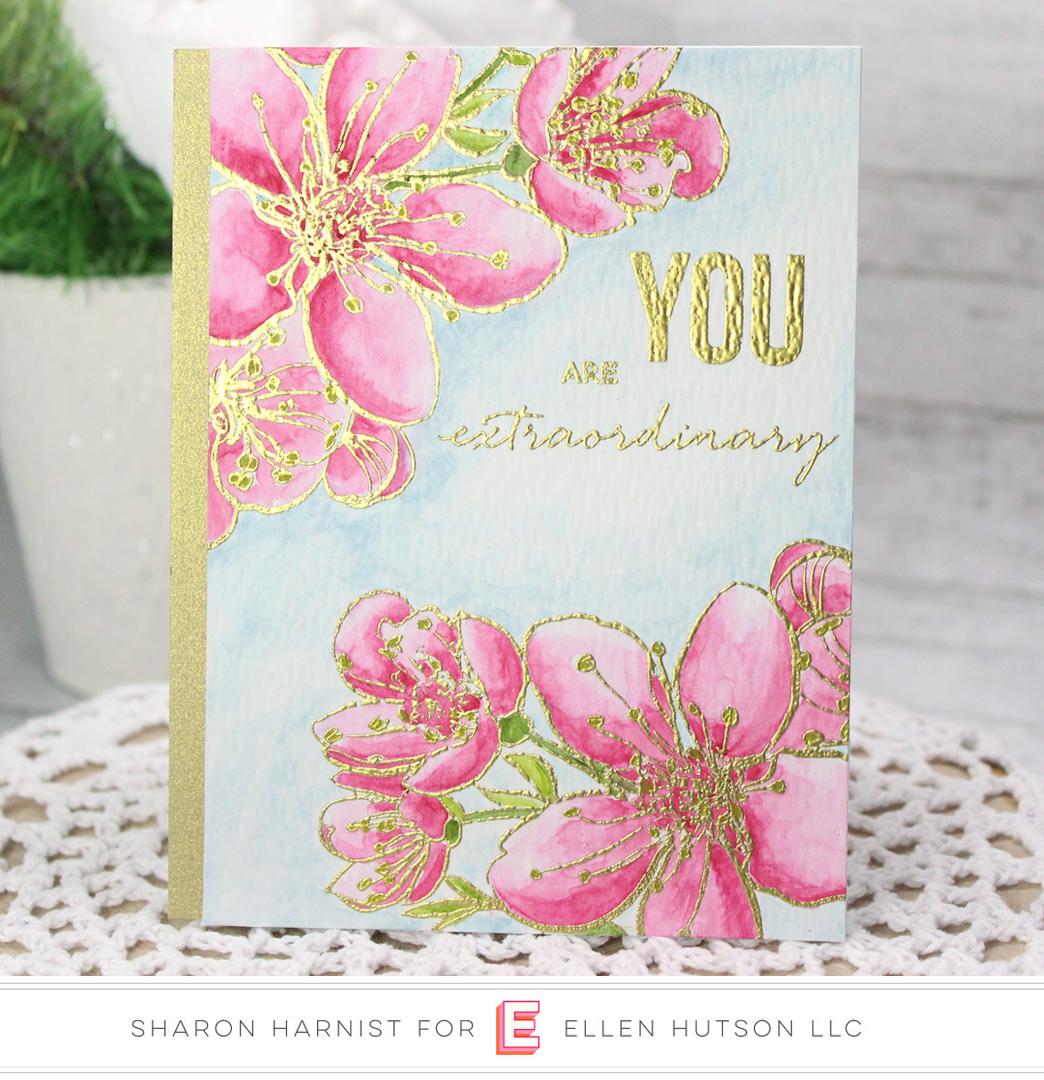 Essentials by Ellen Mondo Sakura card by Sharon Harnist