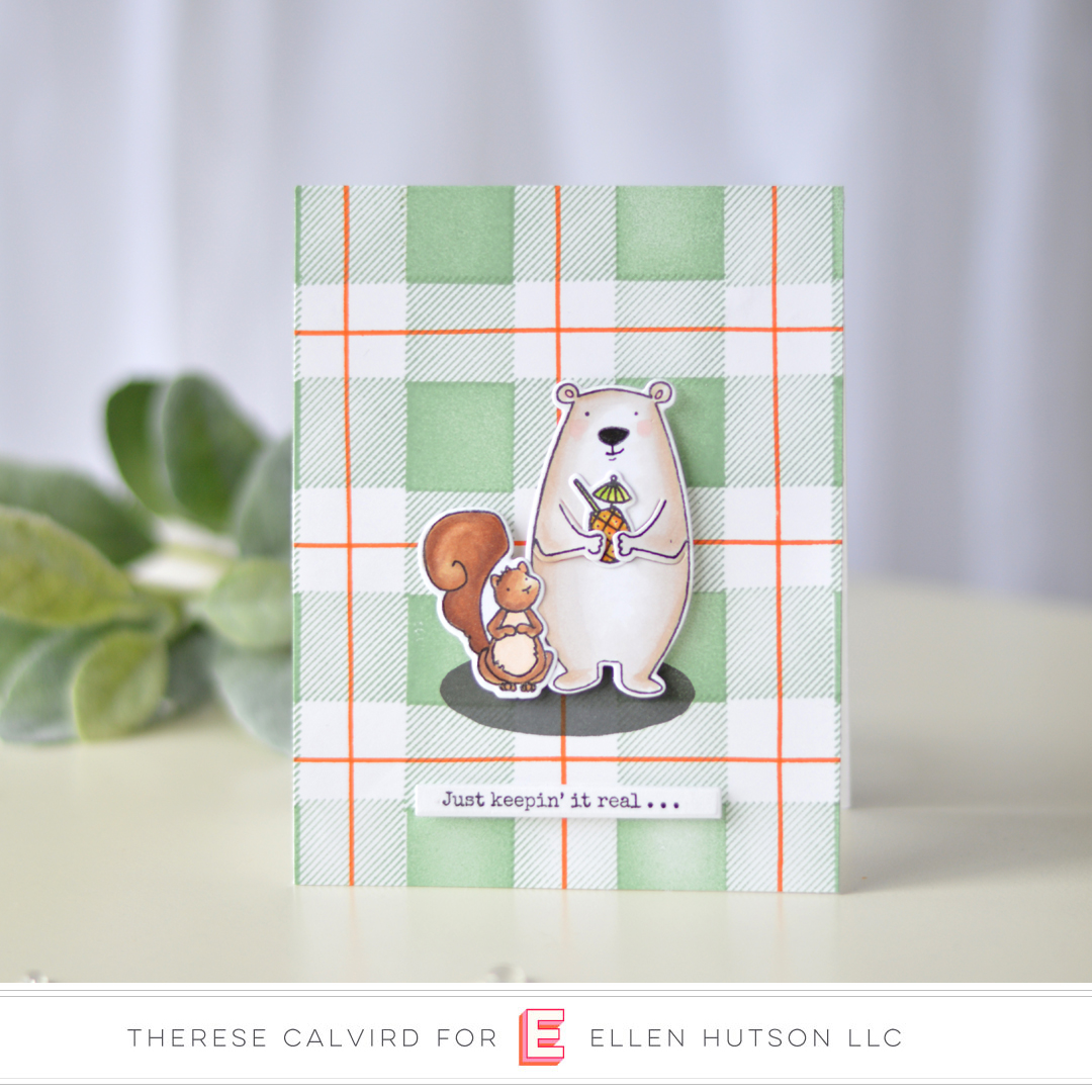 Essentials by Ellen All Inside & Plaid Maker card by Therese Calvird