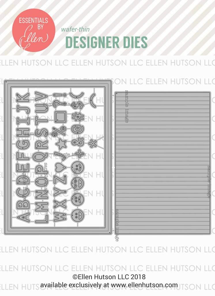 Essentials by Ellen Letterboard dies