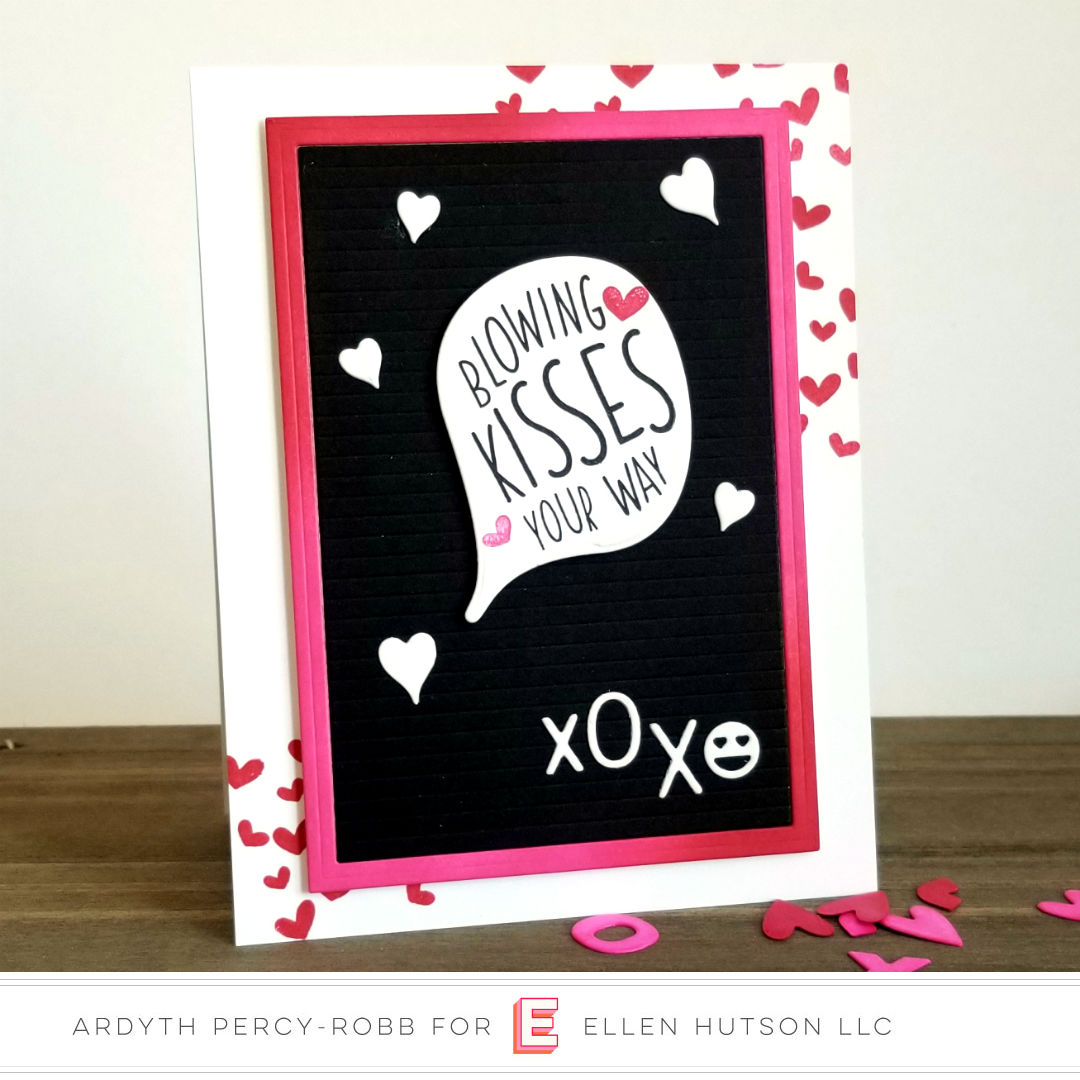Essentials by Ellen Confetti Flinger card with Confetti Kisses by Ardyth Percy-Robb