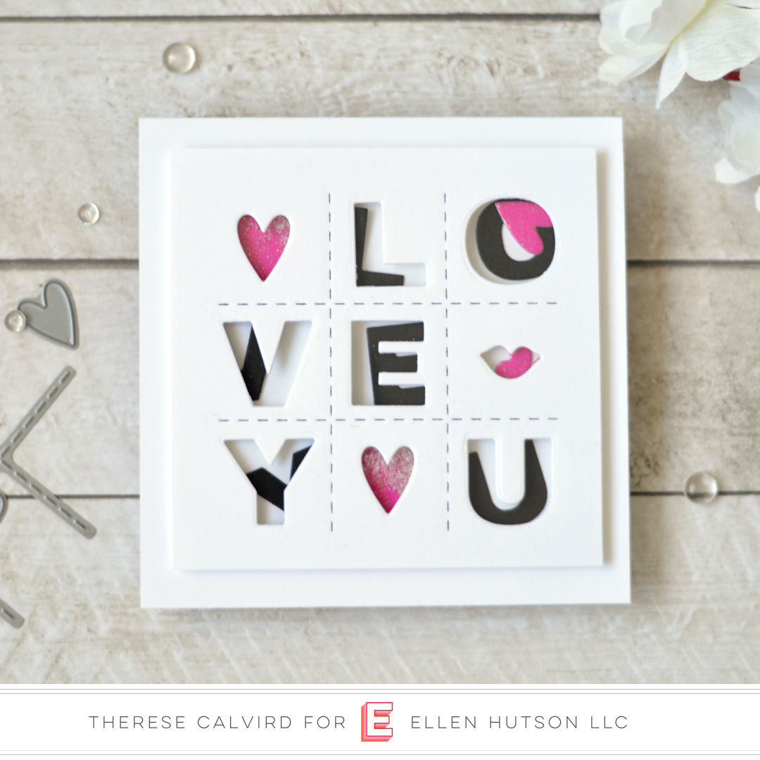 Essentials by Ellen Confetti Kisses card by Therese Calvird
