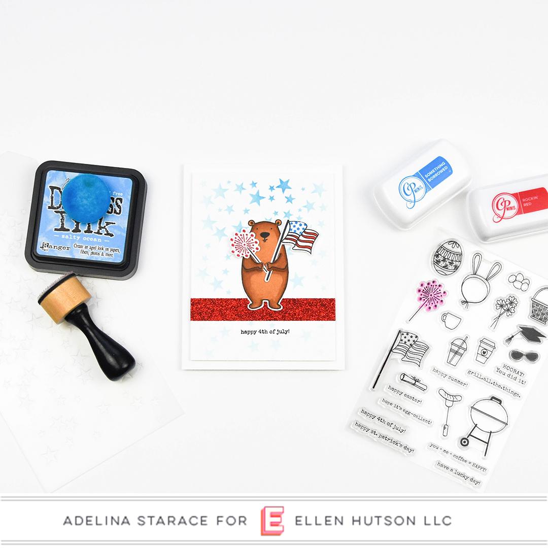 Essentials by Ellen Bear Ware 3 card by Adelina Starace