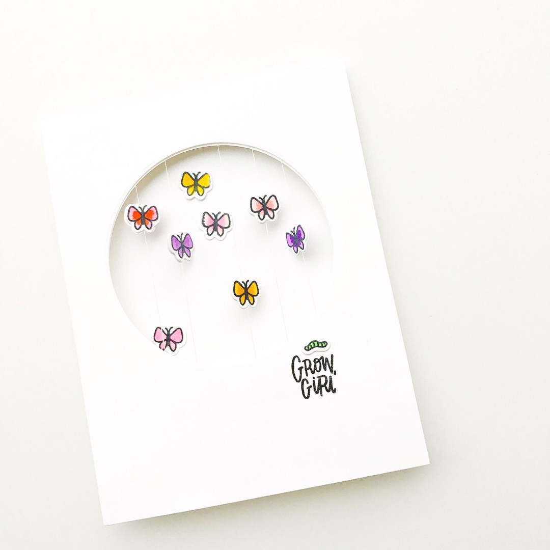 Essentials by Ellen Floating Butterfly Card