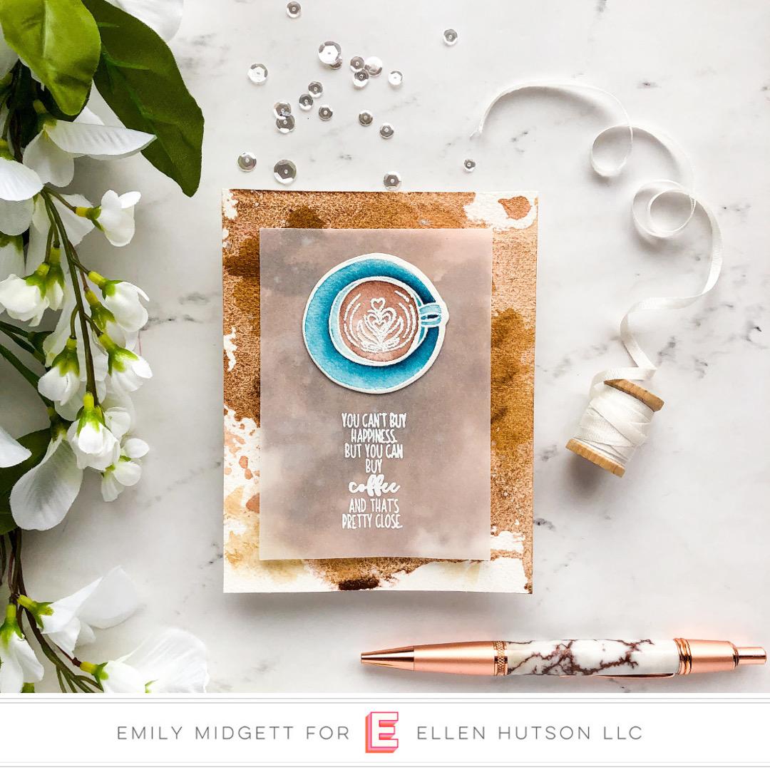 Essentials by Ellen Latte Love Card by Emily Midgett