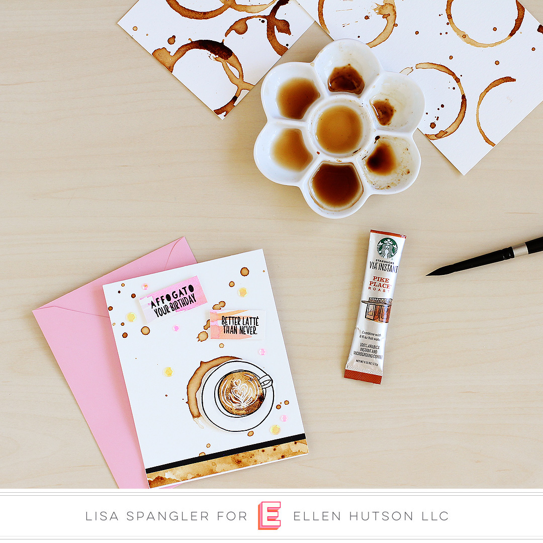 Essentials by Ellen Latte Love card by Lisa Spangler