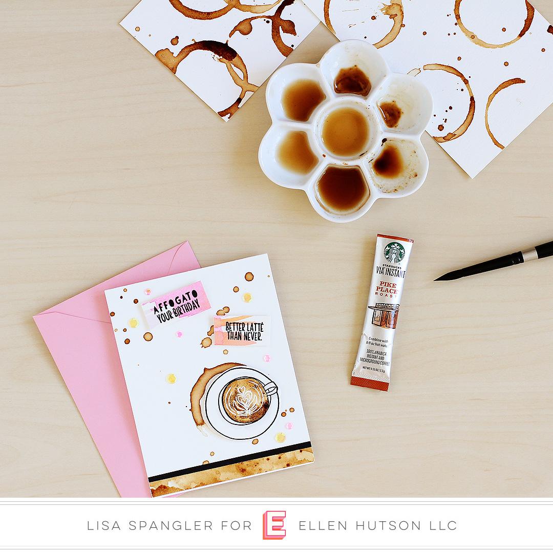Essentials by Ellen Latte Love card by Lisa Spangler