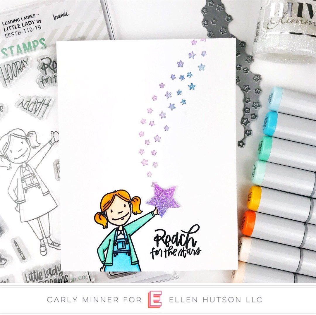 Essentials by Ellen Star Swooshes card by Carly Tee Minner