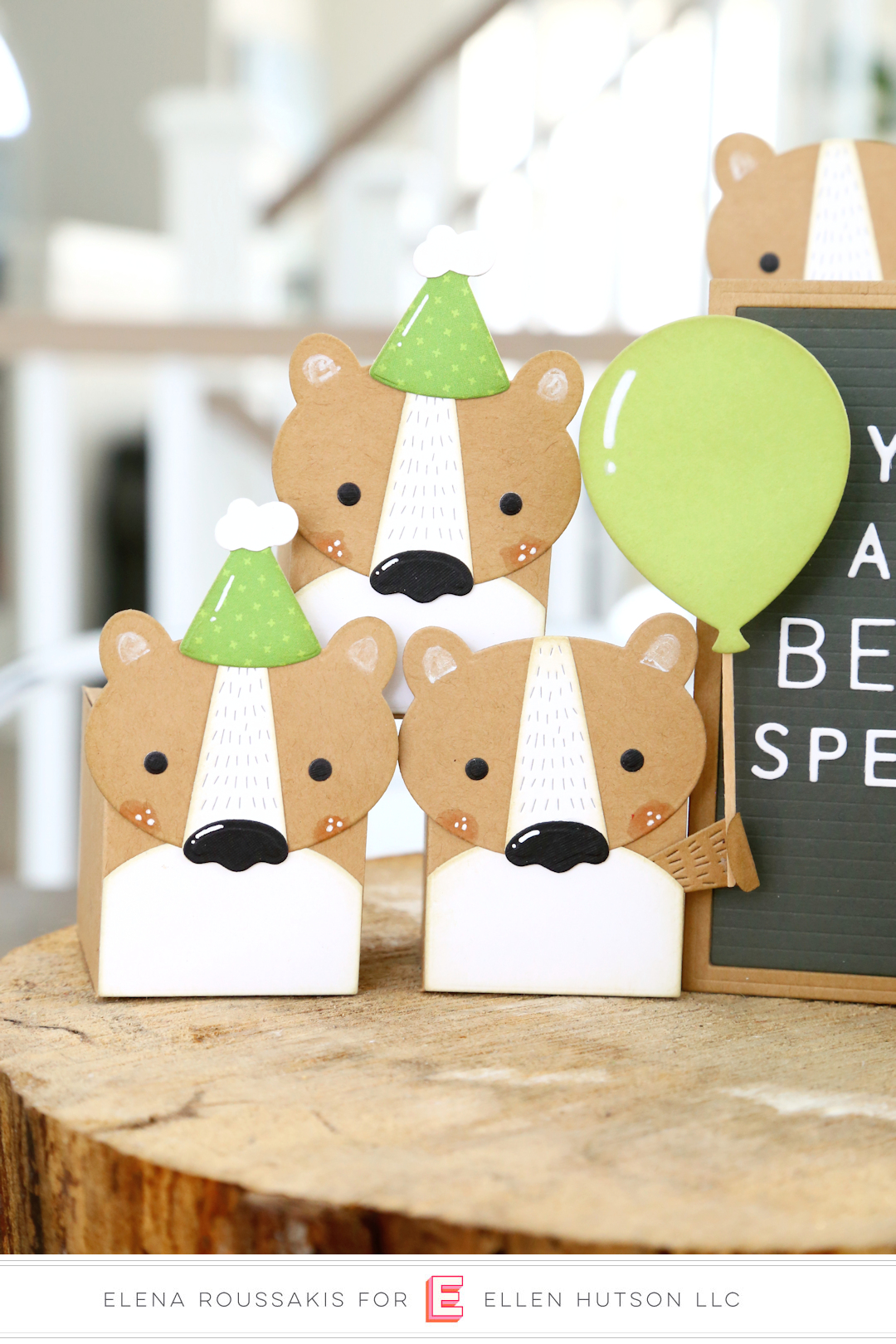 DIY Birthday Favor Boxes with Essentials by Ellen Animal Box Toppers
