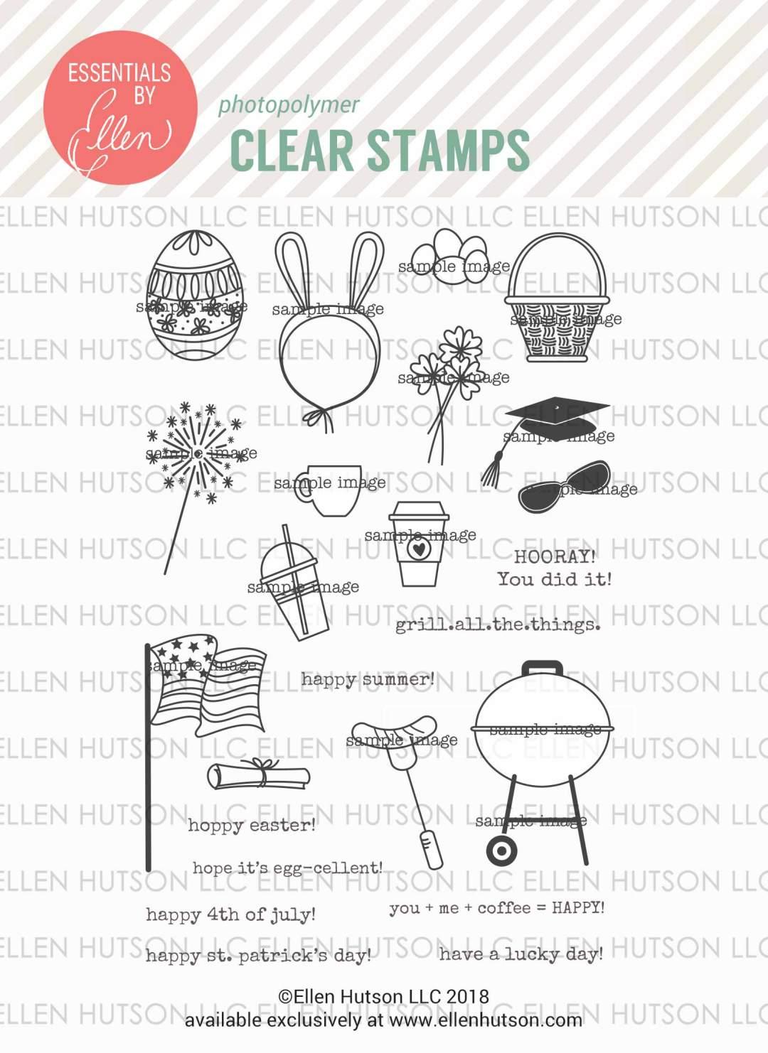 Essentials by Ellen Bear Ware 3 stamps
