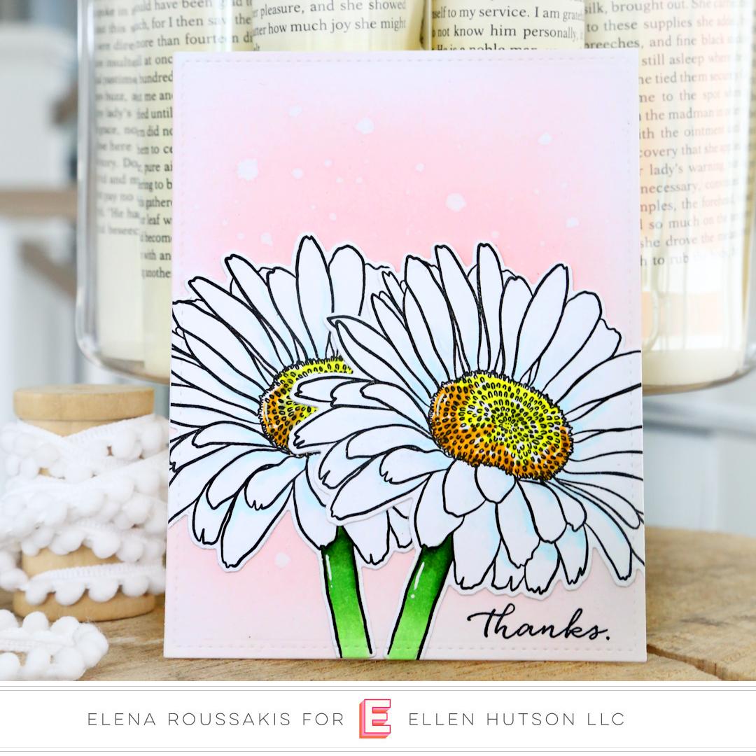 Essentials by Ellen Mondo Gerbera Daisy card by Elena Roussakis