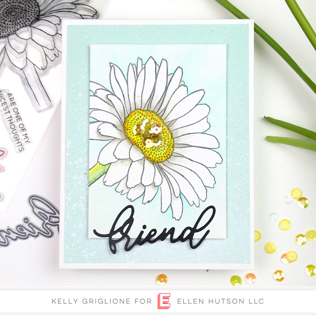 Essentials by Ellen Mondo Gerbera Daisy card by Kelly Griglione
