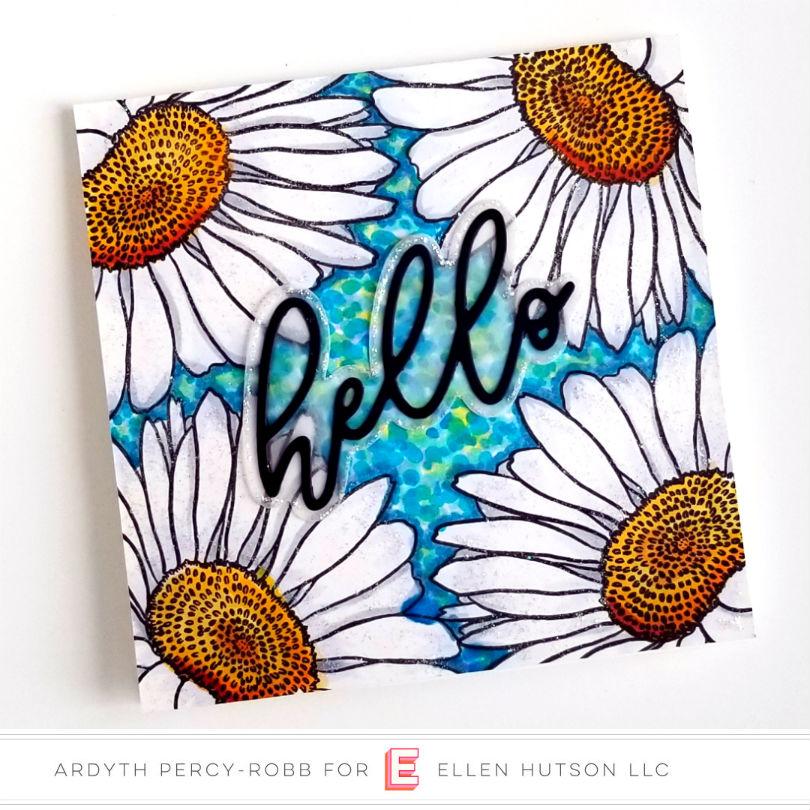 Essentials by Ellen Scripty Hello card by Ardyth Percy-Robb