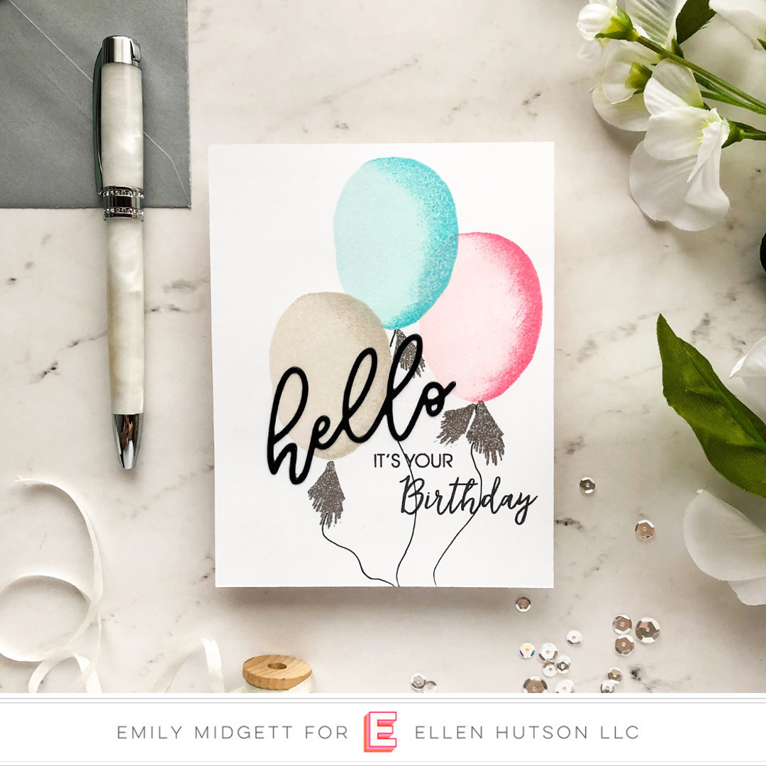 Essentials by Ellen Scripty Hello card by Emily Midgett