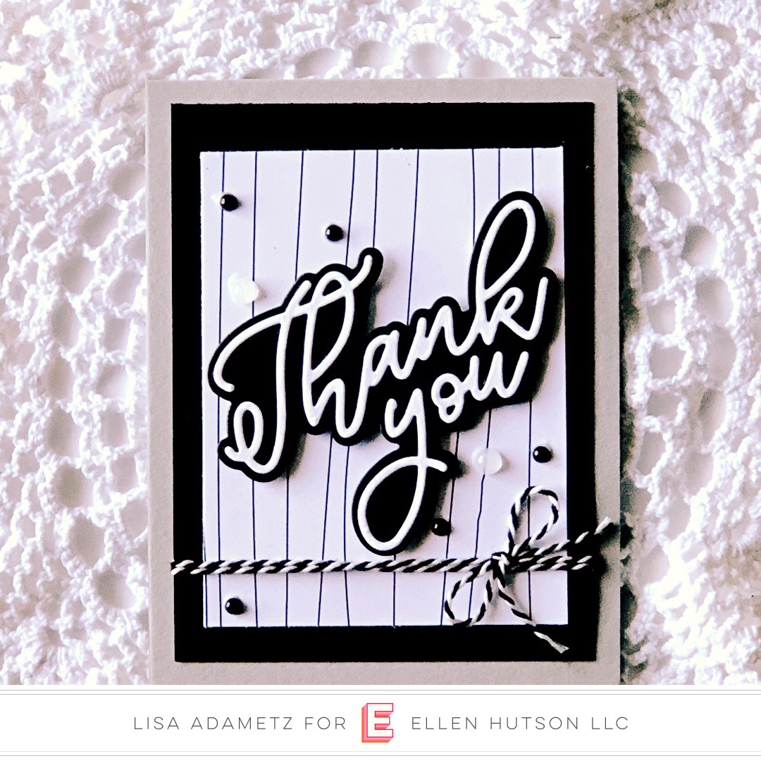 Essentials by Ellen Scripty Thank You card by Lisa Adametz