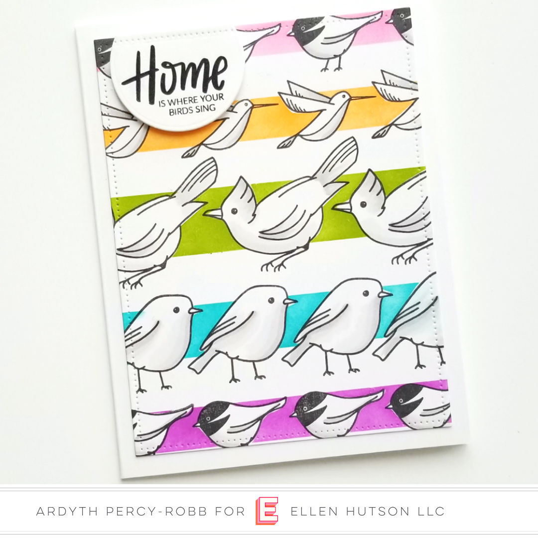 Essentials by Ellen Backyard Bird Friends card by Ardyth Percy-Robb