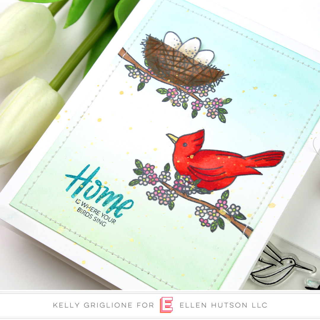 Essentials by Ellen Backyard Bird Friends card by Kelly Griglione