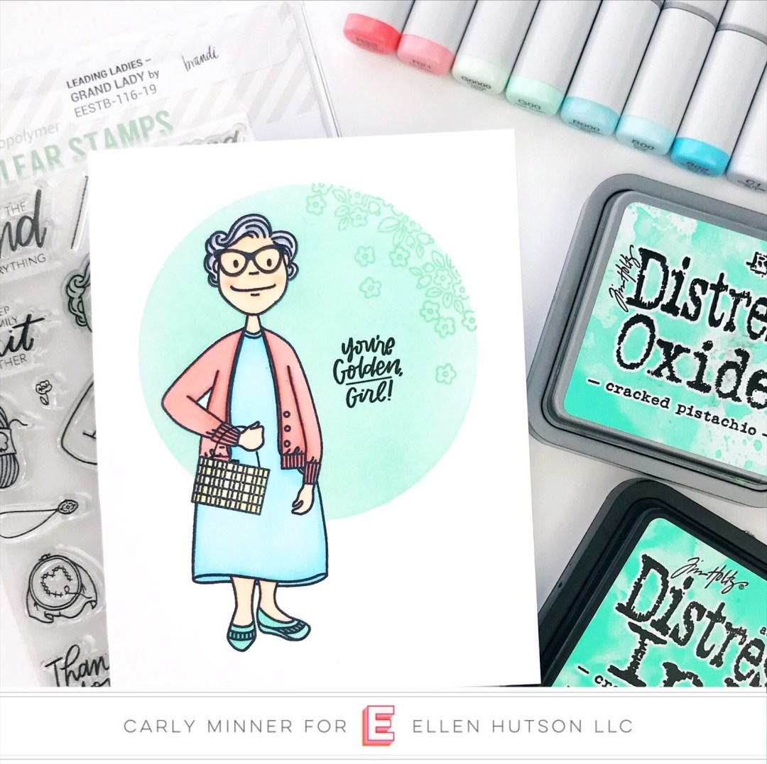 Essentials by Ellen Grand Lady card by Carly Tee Minner