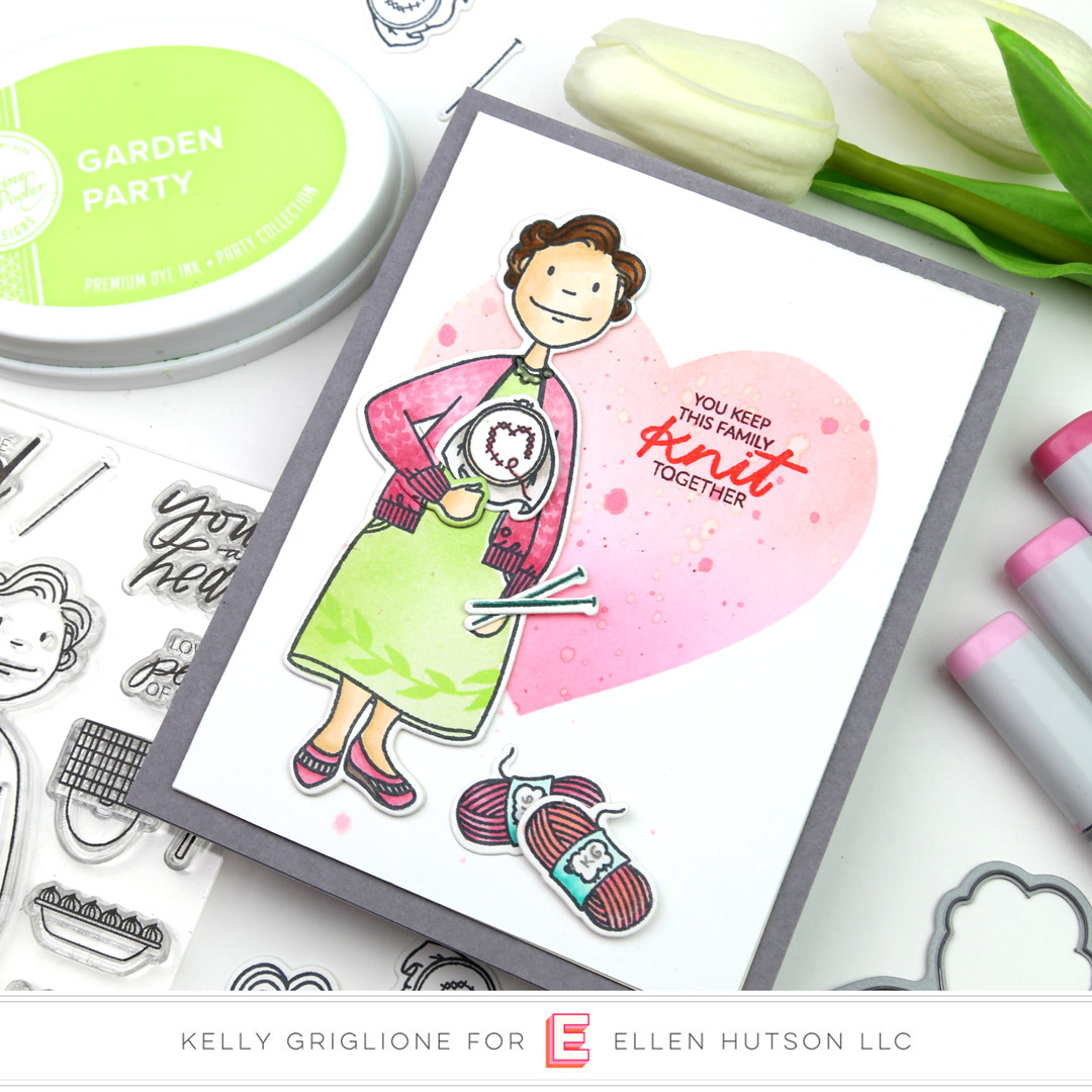 Essentials by Ellen Grand Lady card by Kelly Griglione