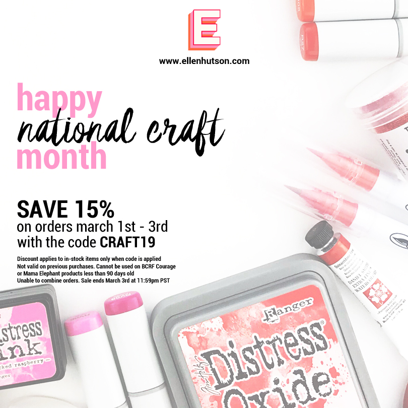 Ellen Hutson National Craft Month Sale