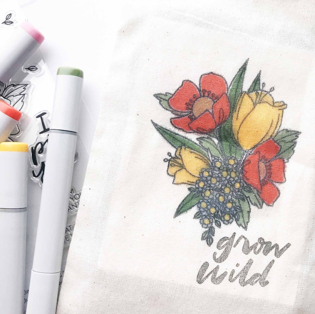 Copic Coloring On Fabric With Brandi Kincaid & Essentials By Ellen