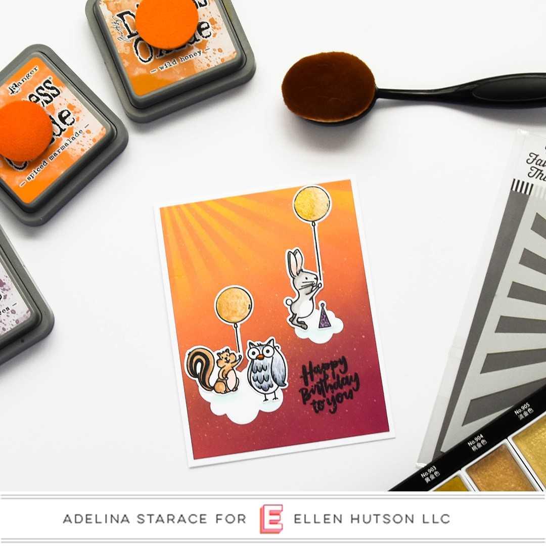 Essentials by Ellen Backyard Party card by Adelina Starace