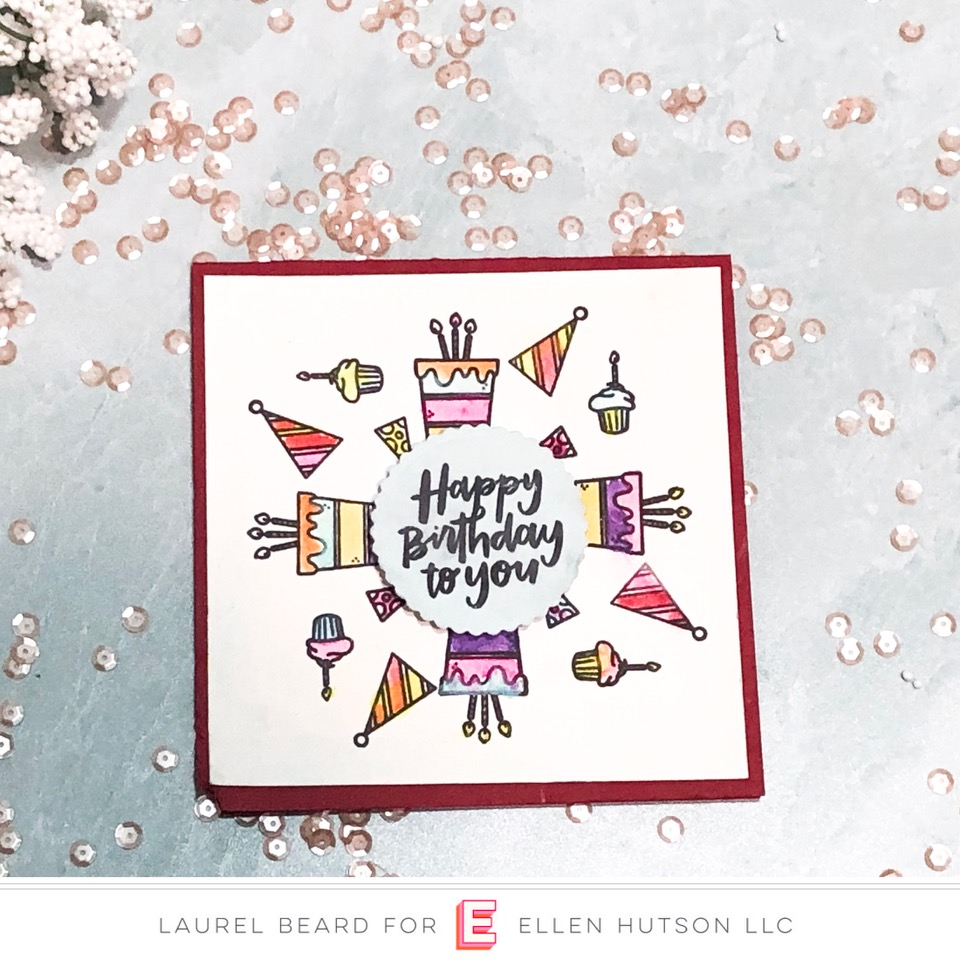 Essentials by Ellen Backyard Party card by Laurel Beard