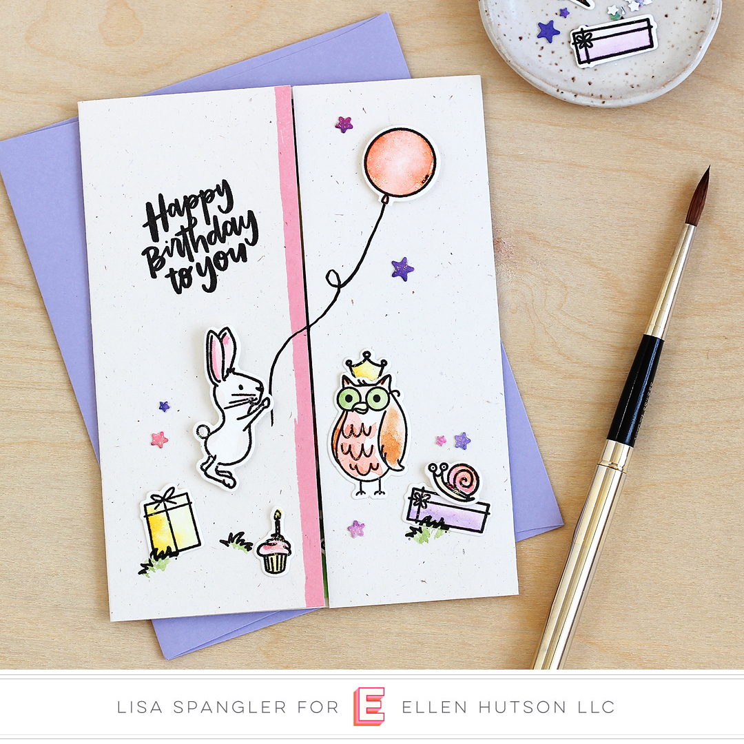 Essentials by Ellen Backyard Party card by Lisa Spangler