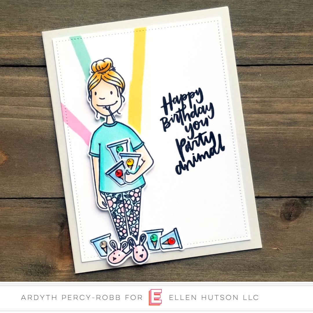 Essentials by Ellen Binge Watching Lady card by Ardyth Percy-Robb