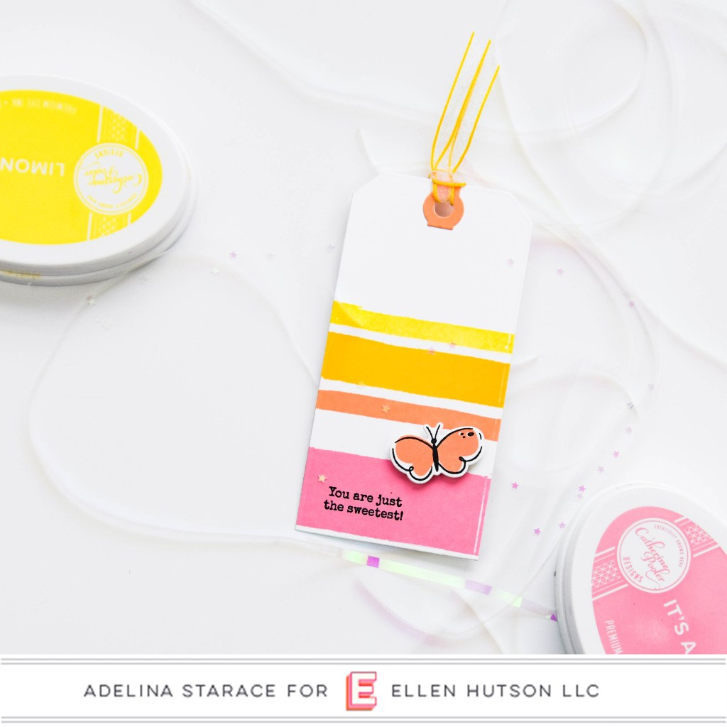 Essentials by Ellen Painted Stripes tag by Adelina Starace