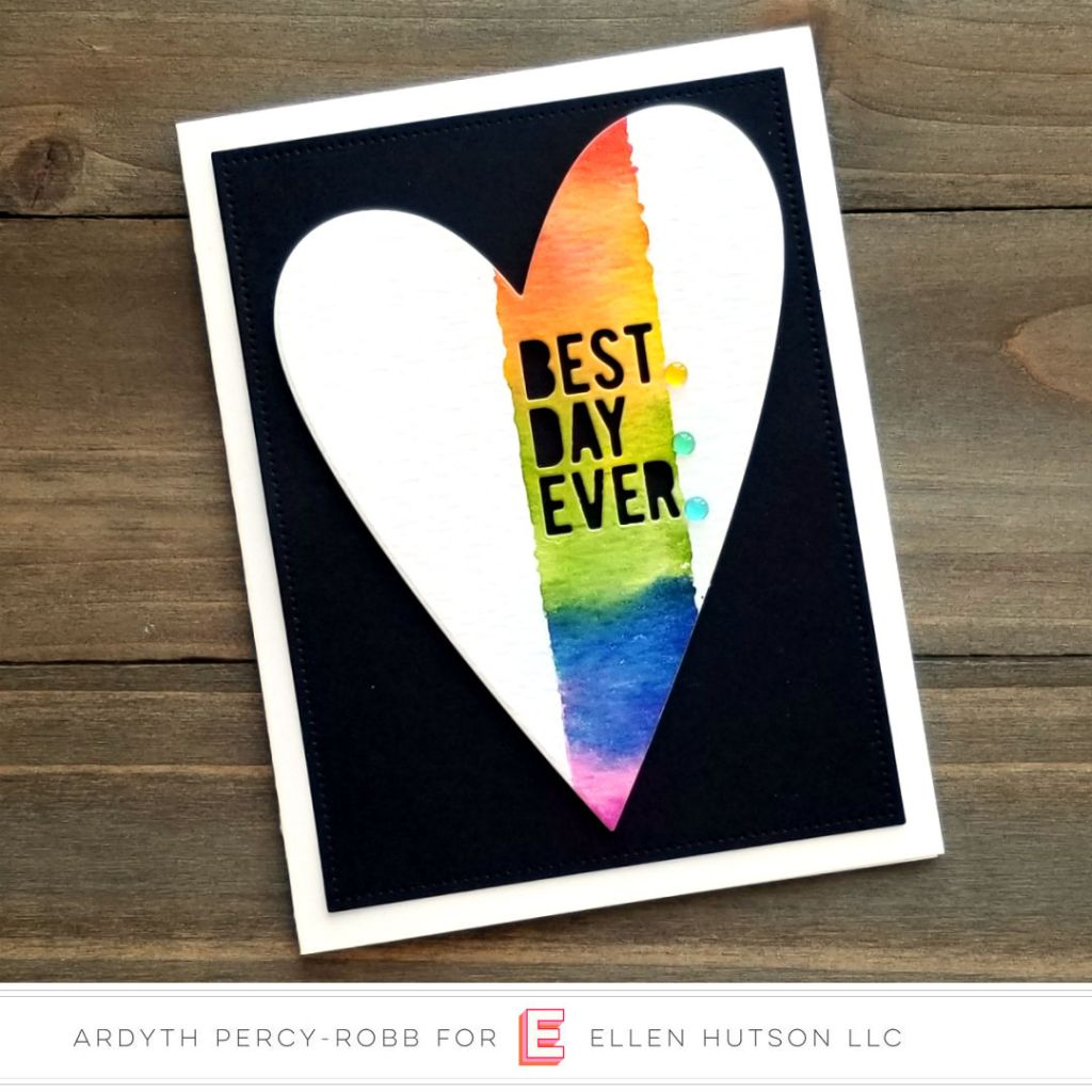 Essentials by Ellen Painted Stripes card by Ardyth Percy-Robb