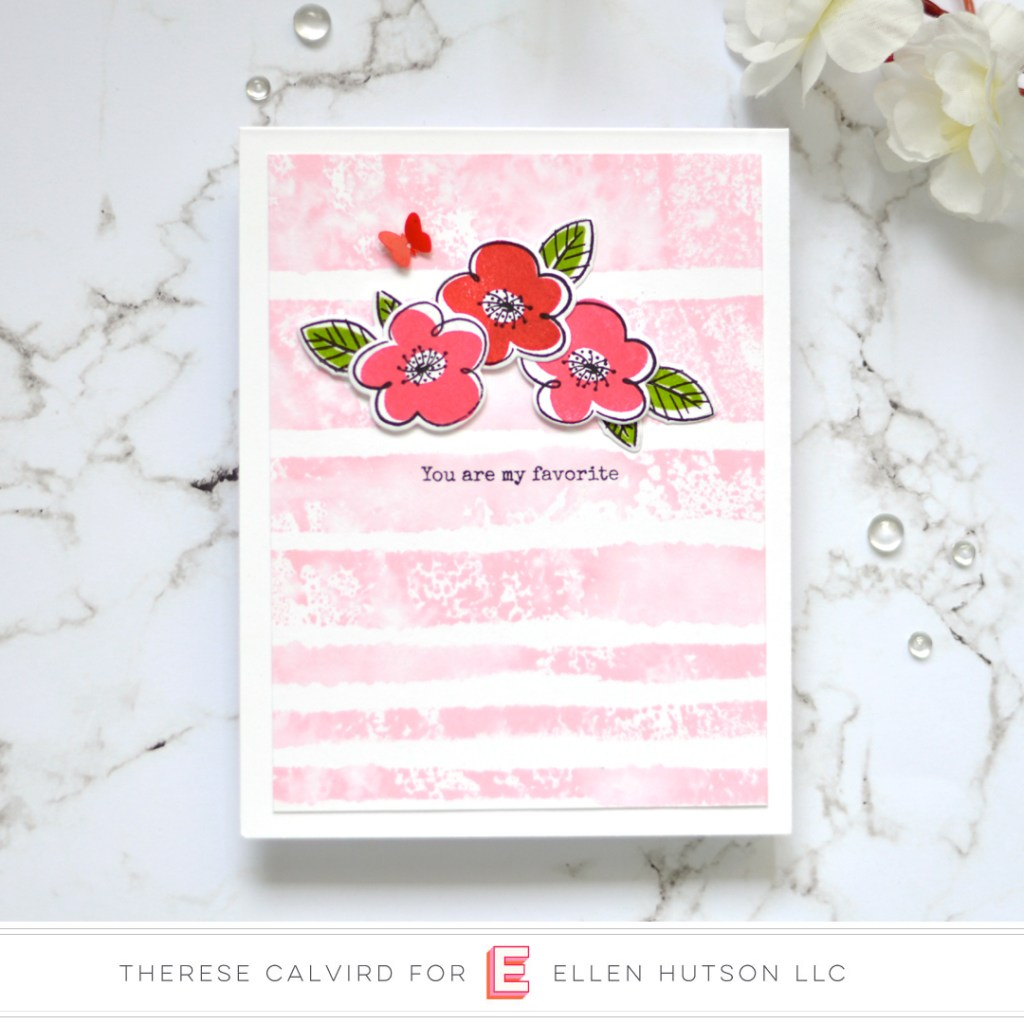 Essentials by Ellen Painted Stripes card by Therese Calvird