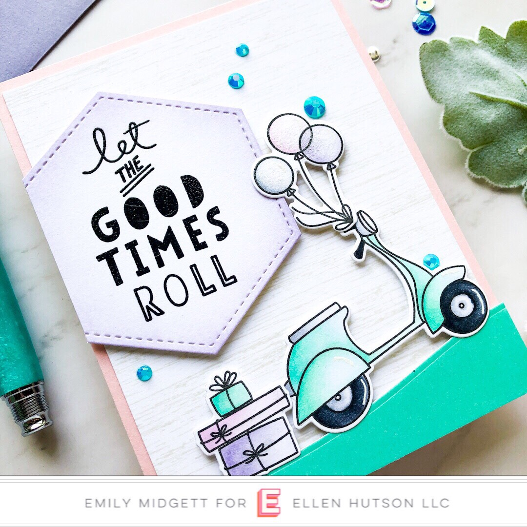 Essentials by Ellen Good Times card by Emily Midgett