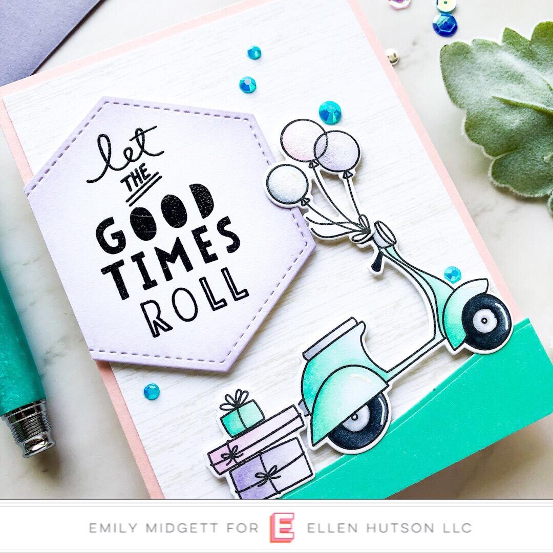 Essentials by Ellen Good Times card by Emily Midgett