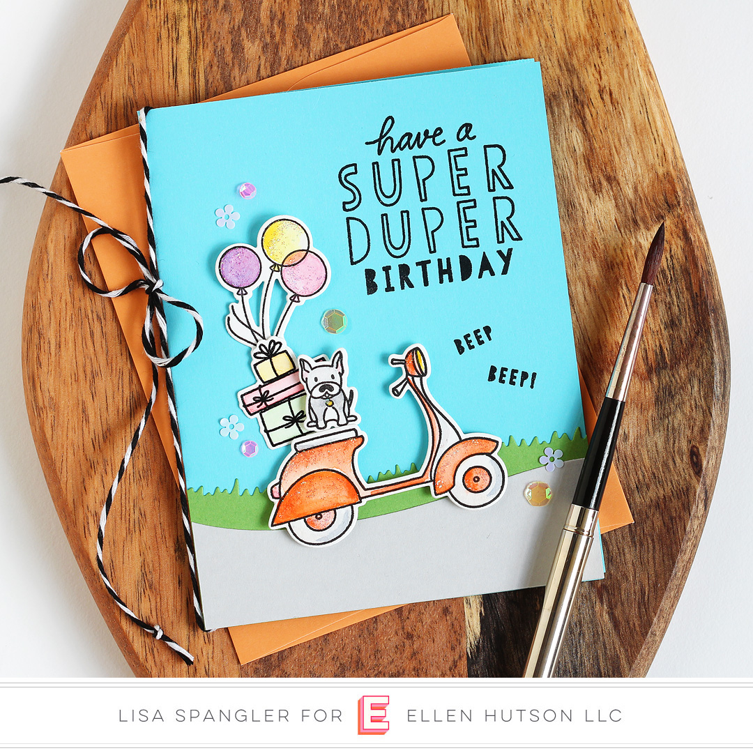 Essentials by Ellen Good Times card by Lisa Spangler