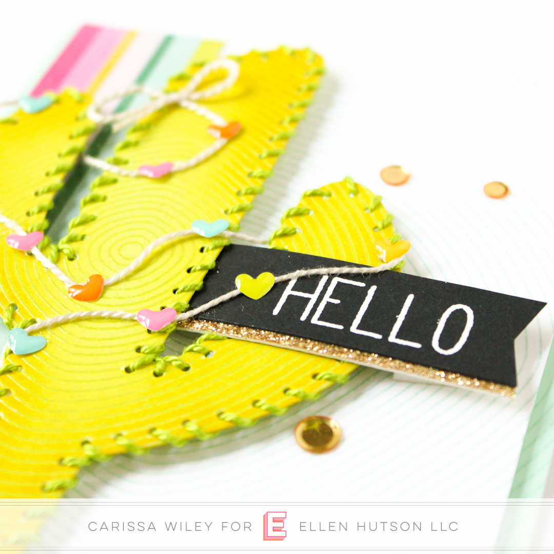 Hand Stitching On Cards With Neat & Tangled