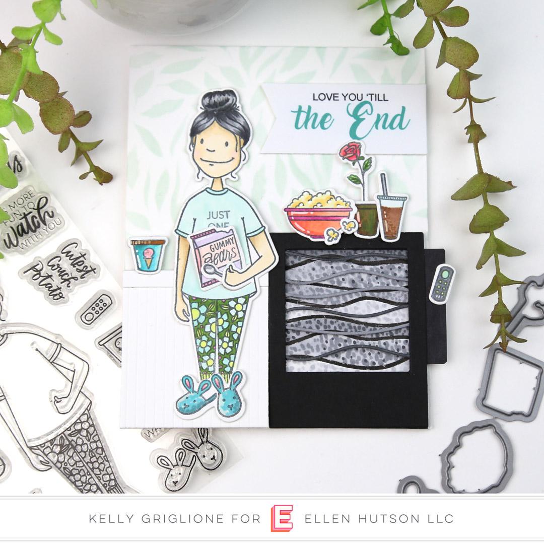 Interactive Card With Essentials By Ellen Binge Watching Lady