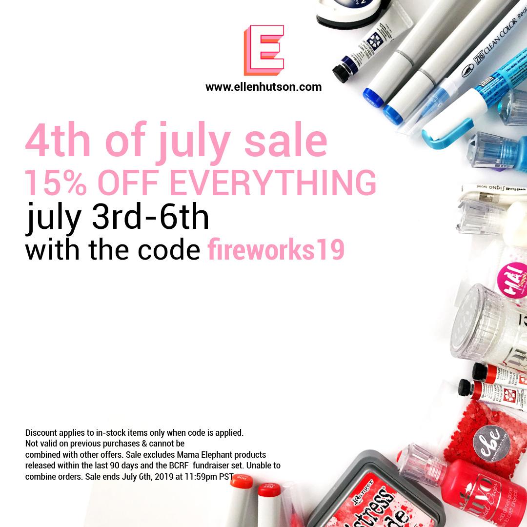 Ellen Hutson LLC 4th Of July Sale