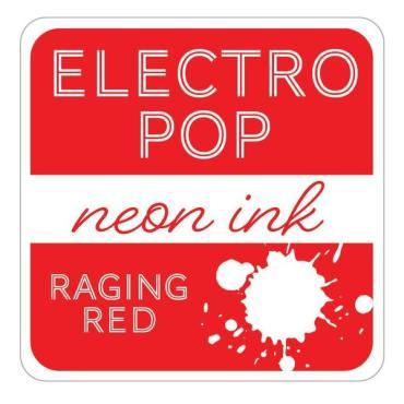 Raging Red ElectroPop Ink Pad, Gina K Designs Ink Pad - 609015541098