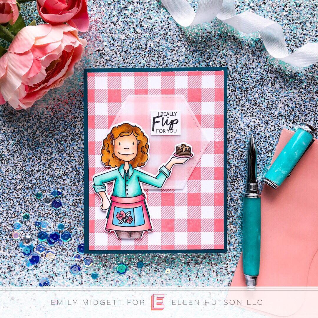 Essentials by Ellen Cooking Lady card by Emily Midgett