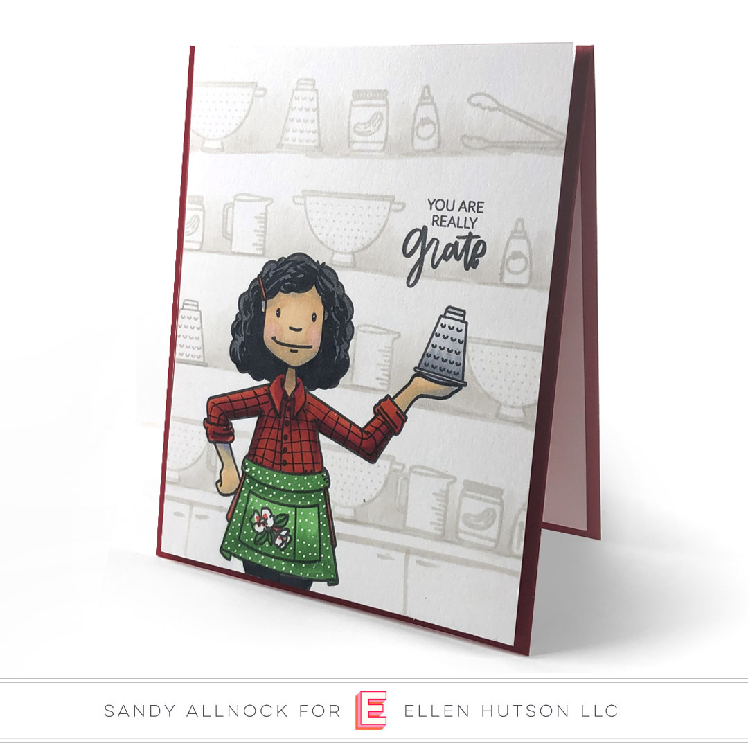 Essentials By Ellen Cooking Lady card by Sandy Allnock